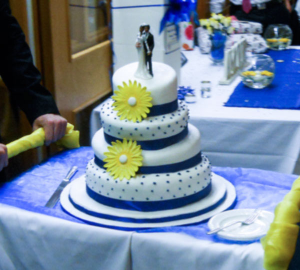 topsy turvy wedding cake